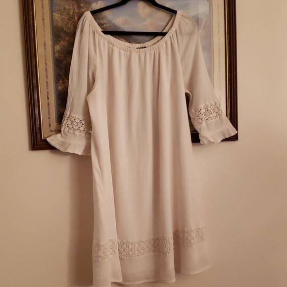 Lane Bryant Dresses & Skirts - White linen dress from Lane Bryant